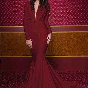 Jessica Angel 325 bridesmaid dress in burgundy